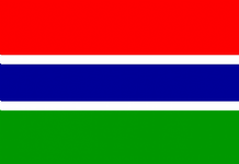 GAMBIA (THE) - HAND WAVING FLAG (MEDIUM)